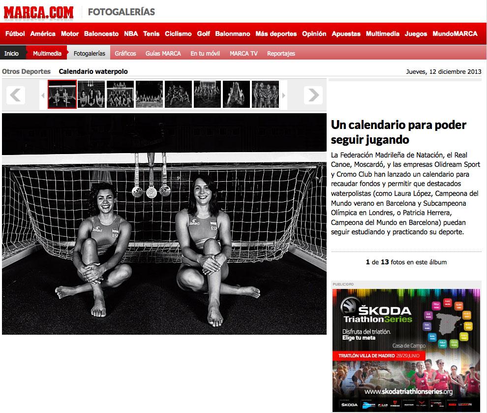 Calendario Waterpolo. Cromoclub y Diario Marca